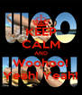 KEEP CALM AND Woohoo! Yeah! Yeah! - Personalised Poster A4 size