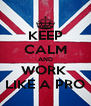 KEEP CALM AND WORK  LIKE A PRO - Personalised Poster A4 size