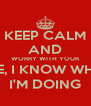 KEEP CALM AND WORRY WITH YOUR LIFE, I KNOW WHAT I'M DOING - Personalised Poster A4 size