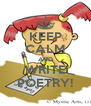 KEEP CALM AND WRITE POETRY! - Personalised Poster A4 size
