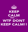 KEEP CALM AND..... WTF DONT KEEP CALM!! - Personalised Poster A4 size