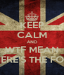 KEEP CALM AND WTF MEAN WHERE'S THE FOOD - Personalised Poster A4 size