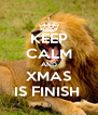 KEEP CALM AND XMAS IS FINISH  - Personalised Poster A4 size