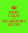 KEEP CALM AND YES HISTORY SUCKS - Personalised Poster A4 size