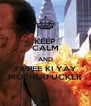 KEEP CALM AND YIPPEE KI YAY MOTHERFUCKER - Personalised Poster A4 size