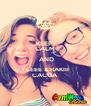 KEEP  CALM  AND YLEEE & RAKIII CACCA - Personalised Poster A4 size
