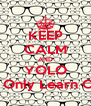 KEEP CALM AND YOLO You Only Learn Once - Personalised Poster A4 size