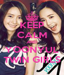 KEEP CALM AND YOONYUL TWIN GIRLS - Personalised Poster A4 size