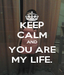 KEEP CALM AND YOU ARE MY LIFE. - Personalised Poster A4 size