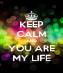 KEEP CALM AND YOU ARE MY LIFE - Personalised Poster A4 size