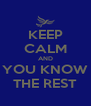 KEEP CALM AND YOU KNOW THE REST - Personalised Poster A4 size