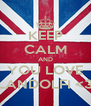 KEEP CALM AND YOU LOVE LANDOLFI <3 - Personalised Poster A4 size