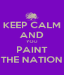KEEP CALM AND YOU PAINT THE NATION - Personalised Poster A4 size