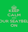KEEP CALM AND YOUR SEATBELT  ON - Personalised Poster A4 size
