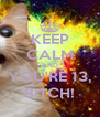 KEEP CALM AND YOU'RE 13, BITCH! - Personalised Poster A4 size