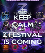 KEEP CALM AND Z FESTIVAL IS COMING - Personalised Poster A4 size