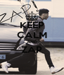 KEEP CALM AND ZAP  - Personalised Poster A4 size