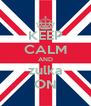 KEEP CALM AND zulka ON - Personalised Poster A4 size