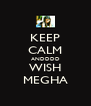 KEEP CALM ANDDDD WISH MEGHA - Personalised Poster A4 size