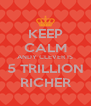 KEEP CALM ANDY CLEVER IS 5 TRILLION RICHER - Personalised Poster A4 size