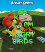 KEEP CALM  ANGRY BIRDS - Personalised Poster A4 size