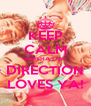 KEEP CALM ANISHA ONE DIRECTION LOVES YA! - Personalised Poster A4 size