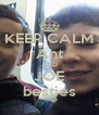 KEEP CALM Ant AND JOE besties - Personalised Poster A4 size