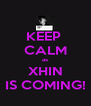 KEEP  CALM as XHIN IS COMING! - Personalised Poster A4 size