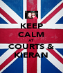 KEEP CALM AT COURTS & KIERAN - Personalised Poster A4 size