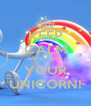 KEEP CALM AWESOME YOUR UNICORN! - Personalised Poster A4 size
