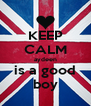 KEEP CALM aydeen is a good boy - Personalised Poster A4 size