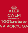 KEEP CALM BALANCES  100%rebate TAP PORTUGAL - Personalised Poster A4 size