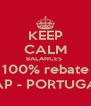 KEEP CALM BALANCES  100% rebate TAP - PORTUGAL - Personalised Poster A4 size