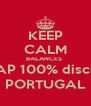 KEEP CALM BALANCES  TAP 100% discnt PORTUGAL - Personalised Poster A4 size