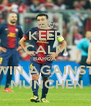 KEEP CALM BARCA WIN AGAINST  MUNCHEN - Personalised Poster A4 size