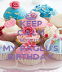 KEEP CALM BCOZ IT'S MY PAGLU'S BIRTHDAY - Personalised Poster A4 size