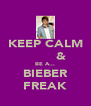 KEEP CALM         & BE A... BIEBER FREAK - Personalised Poster A4 size