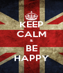 KEEP CALM & BE HAPPY - Personalised Poster A4 size