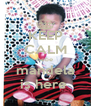KEEP CALM bebe mandela is here  - Personalised Poster A4 size