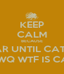 KEEP CALM BECAUSE 1 MORE YEAR UNTIL CATCHING FIRE AFDWJKAF;BQJE;BGFJWQ WTF IS CALM1!?!?!?!?!?!?!!!!?!?!?!??! - Personalised Poster A4 size