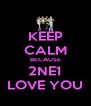 KEEP CALM BECAUSE 2NE1 LOVE YOU - Personalised Poster A4 size