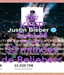 KEEP CALM BECAUSE 33 milhões de Beliebers - Personalised Poster A4 size