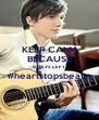 KEEP CALM BECAUSE 6 DAYS LEFT #heartstopsbeatin  - Personalised Poster A4 size