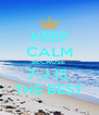 KEEP CALM BECAUSE  7-J IS  THE BEST - Personalised Poster A4 size
