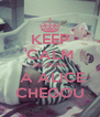 KEEP CALM BECAUSE  A ALICE CHEGOU - Personalised Poster A4 size