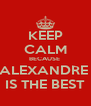 KEEP CALM BECAUSE  ALEXANDRE  IS THE BEST - Personalised Poster A4 size