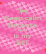 Keep calm Because Alisha Is my BFF - Personalised Poster A4 size
