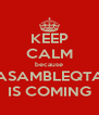 KEEP CALM because ASAMBLEQTA IS COMING - Personalised Poster A4 size