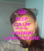 KEEP CALM ...BECAUSE... ASHWIN LOVE'S SUENE - Personalised Poster A4 size