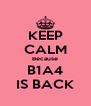 KEEP CALM Because B1A4 IS BACK - Personalised Poster A4 size